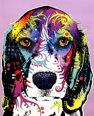 Beagle Art Print by Dean Russo