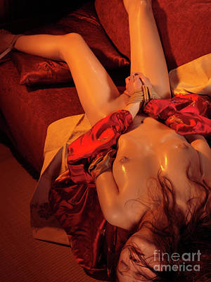 Photograph - Beautiful Naked Woman With Tied Hands by Oleksiy Maksymenko
