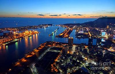 Photograph - Beautiful View Of Kaohsiung Port At Evening Time by Yali Shi