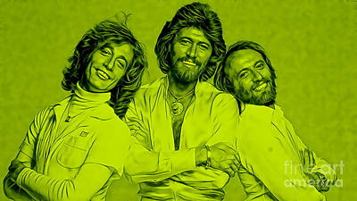 Bee Gees Collection Print by Marvin Blaine