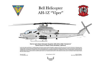 Digital Art - Bell Helicopter Ah-1z Viper by Arthur Eggers
