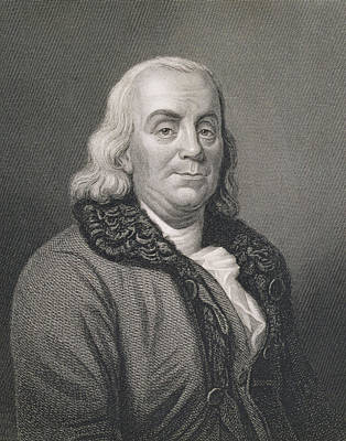 Statesmen Drawing - Benjamin Franklin by Joseph Siffred Duplessis