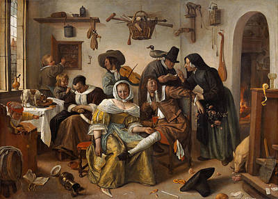 Violine Painting - Beware Of Luxury by Jan Steen