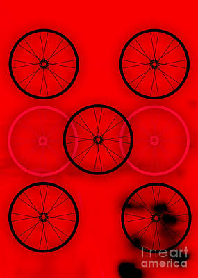 Bicycle Wheel Collection Art Print by Marvin Blaine