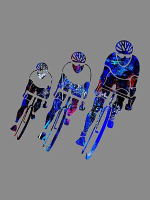 Mixed Media - Bike Racing by Marvin Blaine