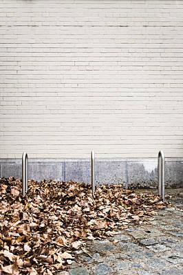 Rack Photograph - Bike Racks by Tom Gowanlock
