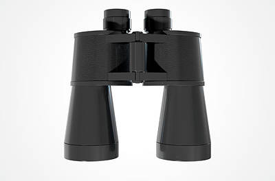 Binoculars Isolated Art Print
