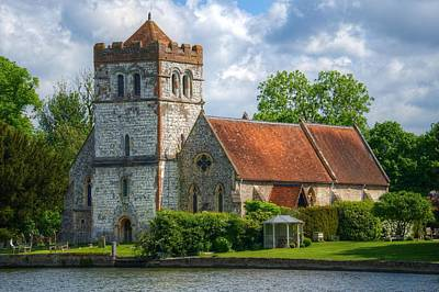 Photograph - Bisham Church by Chris Day