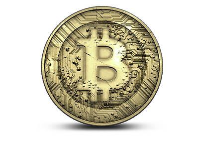 Financial Digital Art - Bitcoin Physical by Allan Swart