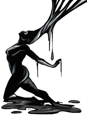 Black. Art Print by Terri Meredith