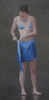 Painting - Blue Bikini Top by Masami Iida