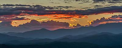 Photograph - Blue Ridge Sunset by Bill Martin