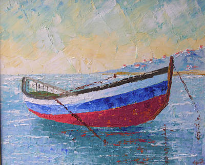 Boat Of Provence  Art Print by Frederic Payet