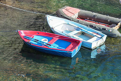 Photograph - 3 Boats Cinque Terres Italy  by John McGraw