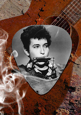 Folk Mixed Media - Bob Dylan Art by Marvin Blaine