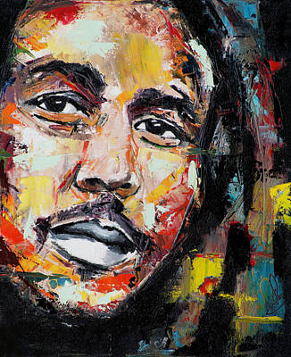 Abstract Expression Painting - Bob Marley II by Richard Day