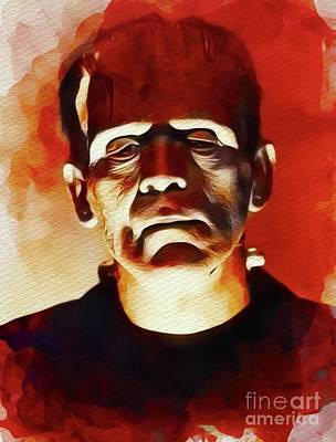 Painting - Boris Karloff As Frankenstein by John Springfield