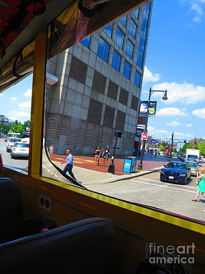 Photograph - Boston City Bus Tour N Duck Tour On Lake Photography View Windows By Navinjoshi Fineartamerica Pixel by Navin Joshi