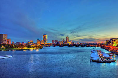 Photograph - Boston Skyline Sunset Over Back Bay by Joann Vitali