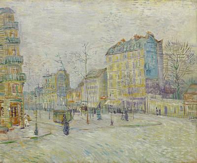 Streetscape Painting - Boulevard De Clichy by Vincent van Gogh