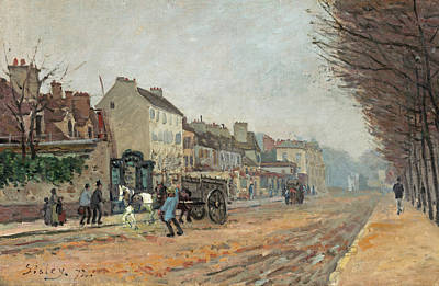 Painting -  Boulevard Heloise, Argenteuil by Alfred Sisley