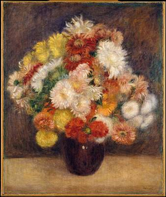 Painting - Bouquet Of Chrysanthemums by Auguste Renoir
