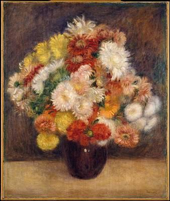 Painting - Bouquet Of Chrysanthemums by Auguste Renoir