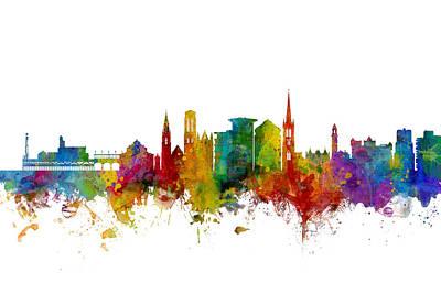 Digital Art - Bournemouth England Skyline by Michael Tompsett