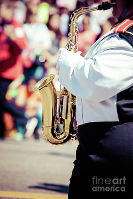 Sax Girl Photograph - Brass Band In Uniform Performing  by Mariusz Prusaczyk