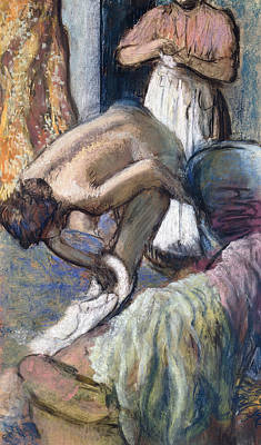 Degas Painting - Breakfast After The Bath by Edgar Degas
