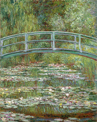 Claude Painting - Bridge Over A Pond Of Water Lilies by Claude Monet