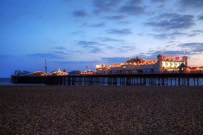 Brighton At Night Art Print by Joana Kruse