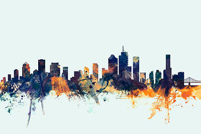 Brisbane Australia Skyline Art Print