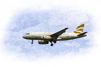 Airways Painting - British Airways A319 Feather Design Art by David Pyatt