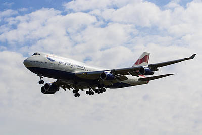 British Airways Boeing 747 Art Print by David Pyatt