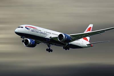 Mixed Media - British Airways Boeing 787-8 Dreamliner by Smart Aviation