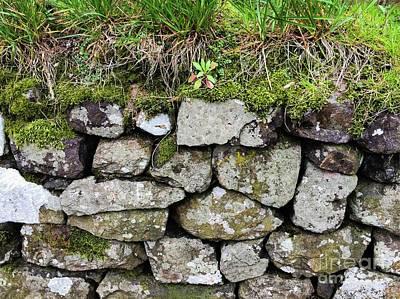British Dry Stone Wall, Photo By Mary Bassett Art Print by Mary Bassett