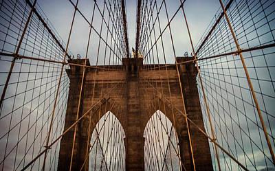 White River Scene Photograph - Brooklyn Bridge by Martin Newman