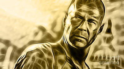 Movie Star Mixed Media - Bruce Willis Collection by Marvin Blaine