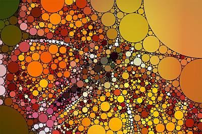 Bubble Art Butterfly Art Print