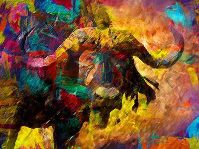 Bison Digital Art - Buffalo by Elena Kosvincheva