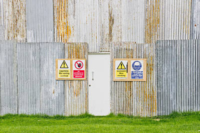 Exclamation Photograph - Building Site by Tom Gowanlock