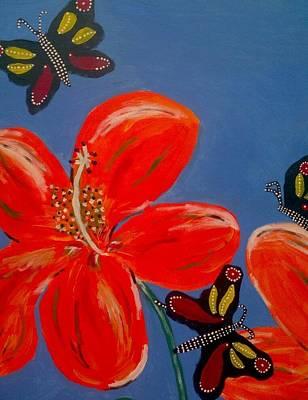3 Butterflys Good Spirit Near Original by Julie Butterworth