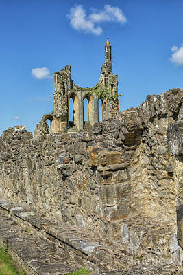 Photograph - Byland Abbey In Yorkshire by Patricia Hofmeester