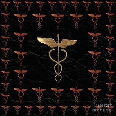 Caduceus - Symbols Of The Occult Art Print