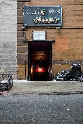 Photograph - Cafe Wha? by Robert J Caputo