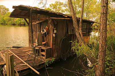 Photograph - Cajun House Boat by Ronald Olivier