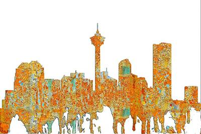 Digital Art - Calgary Alta.skyline by Marlene Watson
