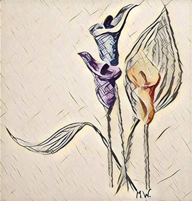 Digital Art - 3 Callas by Megan Walsh