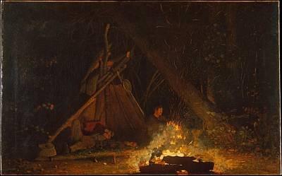 Camp Fire Original by Winslow Homer